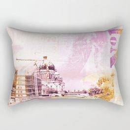 Berlin mixed media street art pink #berlinart Rectangular Pillow