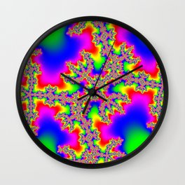 Colorful Fractal #1 Wall Clock