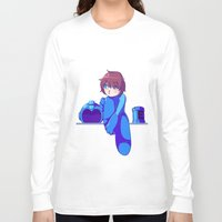 megaman Long Sleeve T-shirts featuring Megaman II  by Thais Magnta Canha