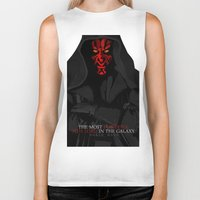 sith Biker Tanks featuring sith lord by shizoy