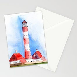 Lighthouse Watercolor Painting Stationery Cards
