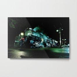 Riding on the Front. UP 4014. Union Pacific. Steam Train Locomotive. Big Boy. © J. Montague Metal Print