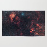 constellation Area & Throw Rugs featuring Cygnus Constellation by Space99