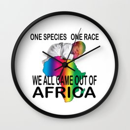 Humanity: One Spices, One Race, All From Africa #1 Wall Clock