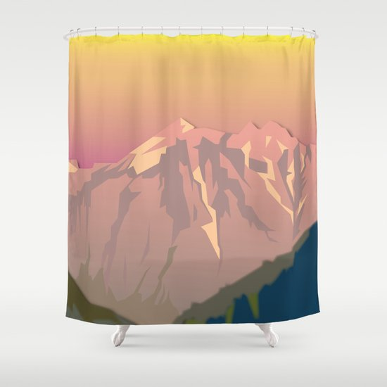 Night Mountains No. 47 Shower Curtain