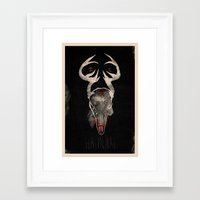 hannibal Framed Art Prints featuring Hannibal by Messypandas