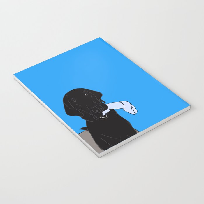 Black Lab With A Bone Notebook