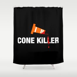 Cone Killer v1 HQvector Shower Curtain