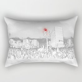 People in the streets Rectangular Pillow