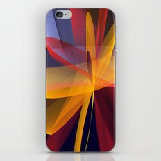 Transparent foldings, modern colourful abstract iPhone & iPod Skin