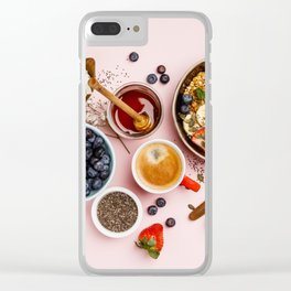 Heart made with Healthy breakfast set Clear iPhone Case