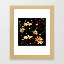 Floral Night II Framed Art Print