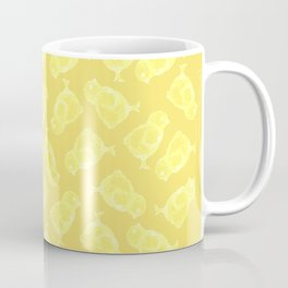 Yellow Easter chicken pattern Coffee Mug