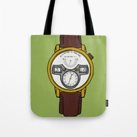 jessica lange Tote Bags featuring A. Lange by Illustrated by Jenny