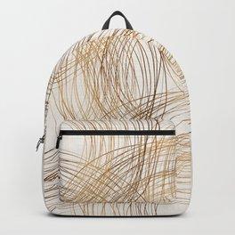 Metallic Circle Pattern Backpack