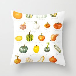 Pumpkins and Squashes Throw Pillow