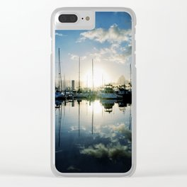 mirrored marina Clear iPhone Case