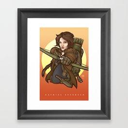 Katniss Everdeen (HungerGames) Framed Art Print