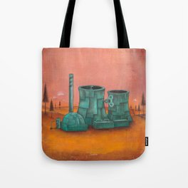 Dancing On A Nuclear Wind Up Power Plant Tote Bag