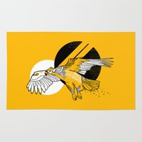 hawk Area & Throw Rugs featuring Hawk by Randyotter