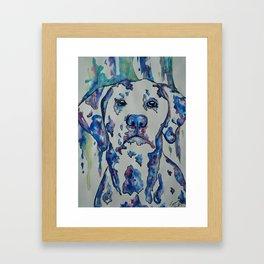 Painting Spots Framed Art Print