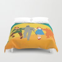 oz Duvet Covers featuring Wzard of Oz by Fräulein Fisher