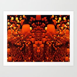 Forest Of Lamps Art Print