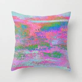 08-12-13 (Building Pink Glitch) Throw Pillow