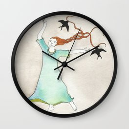 Three Blackbirds Wall Clock