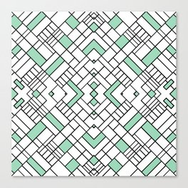 PS Grid 45 Mint Canvas Print