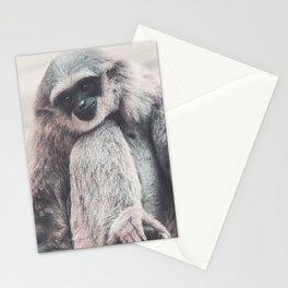 Silvery Gibbon Stationery Cards