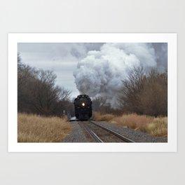 Big Boy Steaming threw Black Wolf Kansas Art Print