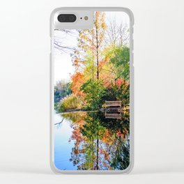 Just Another Autumn Scene Clear iPhone Case
