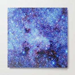 GAlaxy Periwinkle Stars Metal Print