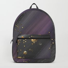 Custom Multicolor Space with Gold Streaks Backpack