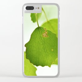 Aspen leaves Clear iPhone Case