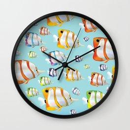 Australia Cartoon Tropical fish travel poster Wall Clock