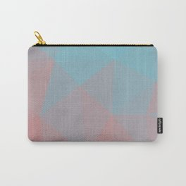 Abstract Geometric Gradient Pattern between Cyan and very soft Red Carry-All Pouch