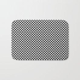 Black and White Checkerboard Weimaraner Bath Mat
