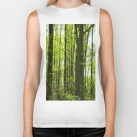 fairytale Biker Tanks featuring Fairytale Forest by Kelsey Hunt