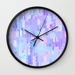 Funky Pastel Shapes Wall Clock