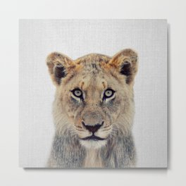 Lioness II - Colorful Metal Print