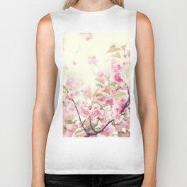 Delicate cherry blossoms Biker Tank