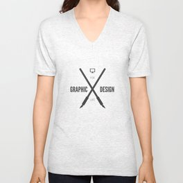 Graphic Design For Life. Unisex V-Neck