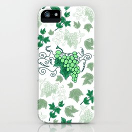 Bunches of grapes iPhone Case