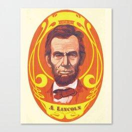 Day-Glo Lincoln Canvas Print
