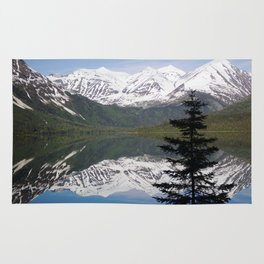 Mountain Reflection with Lone Pine Rug