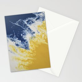 Blue and Old Gold Sea 1 Stationery Cards