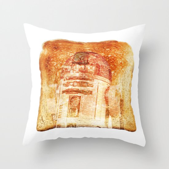 R2D2 toast Throw Pillow