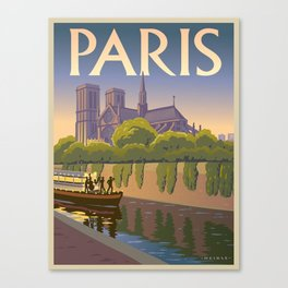 Vintage poster - Paris Canvas Print